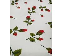 Ткань с красными розами